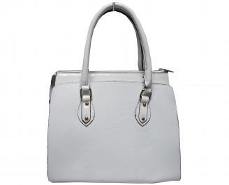 Дамска чанта еко кожа бяла 2