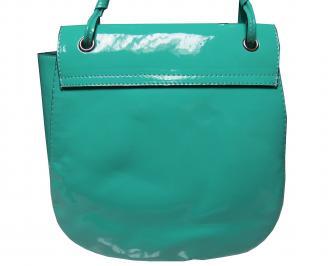 Дамска чанта еко кожа зелена AFKX-21531