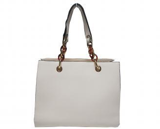 Дамска чанта еко кожа бежова QIXH-21600
