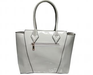 Дамска чанта еко кожа/лак бежова RRCW-21757