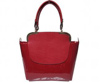 Дамска чанта еко кожа/лак червена ZCLA-21910