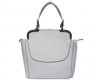 Дамска чанта еко кожа/лак бяла RTLD-21912
