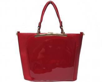 Дамска чанта еко кожа/лак червена