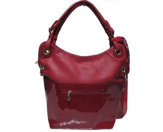 Дамска чанта еко кожа/лак червена CNEF-22005