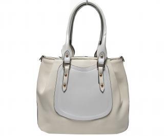 Дамска чанта еко кожа бежова YAXK-22615