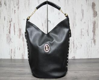 Дамска чанта еко кожа черна FQLA-22909