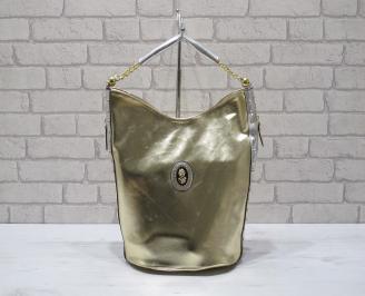 Дамска чанта еко кожа  златиста WVZB-22910