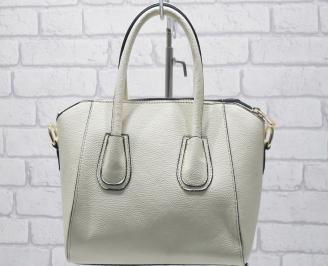 Дамска чанта еко кожа бежова JSYU-23406