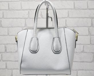 Дамска чанта еко кожа бяла NIAI-23407