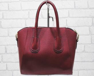 Дамска чанта еко кожа червена ADSY-23408