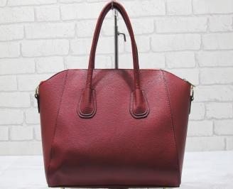 Дамска чанта еко кожа червена HTMH-23415