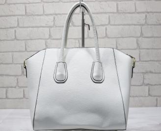 Дамска чанта еко кожа бяла ZTLB-23416