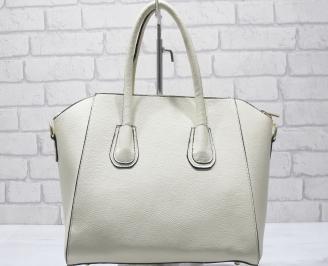 Дамска чанта еко кожа бежова BDMW-23419