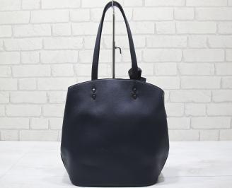 Дамска чанта еко кожа тъмно синя UURZ-23425