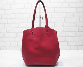 Дамска чанта еко кожа червена NQNZ-23430