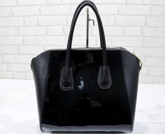 Дамска чанта еко кожа /лак черна GAIY-23432