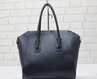 Дамска чанта еко кожа тъмно синя YGVO-23433