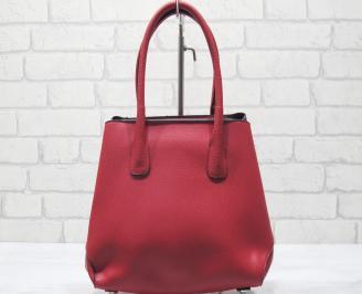 Дамска чанта еко кожа червена ZYVU-23437