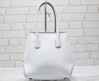 Дамска чанта еко кожа бяла XOVE-23438