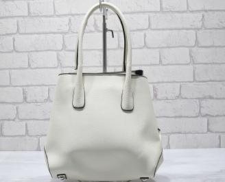 Дамска чанта еко кожа бежова DQMA-23439