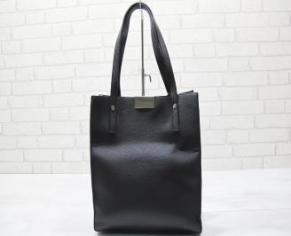 Дамска чанта еко кожа /лак черна OHIN-23457