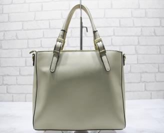 Дамска чанта еко кожа бежова FSSX-23554