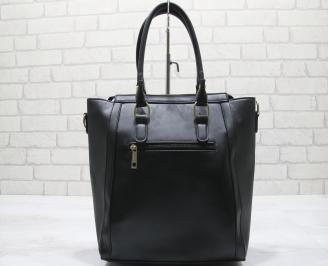 Дамска чанта еко кожа черна BCWQ-23555