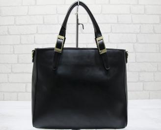 Дамска чанта еко кожа черна PTID-23557