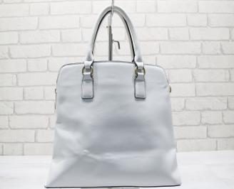 Дамска чанта еко кожа бяла SABB-23559