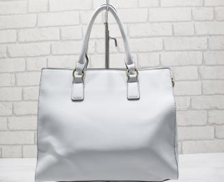 Дамска чанта еко кожа бяла ZAMH-23561