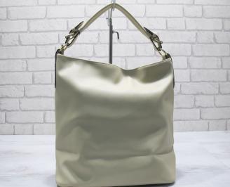 Дамска чанта еко кожа бежова BOWO-23564