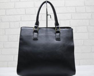 Дамска чанта еко кожа черна XMEO-23568