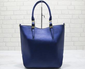 Дамска чанта еко кожа тъмно синя FJVA-23569