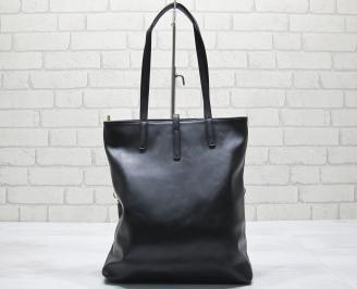 Дамска чанта еко кожа черна UPLB-23574