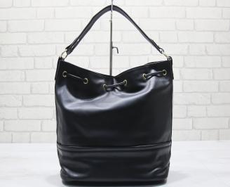 Дамска чанта еко кожа черна WODV-23576
