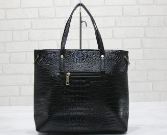 Дамска чанта еко кожа черна KMXG-23577