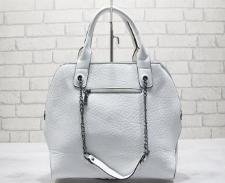 Дамска чанта еко кожа бяла VGQI-23634