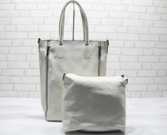 Дамска чанта еко кожа бежова JDHI-23660