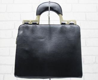 Дамска чанта еко кожа черна KYOQ-23774