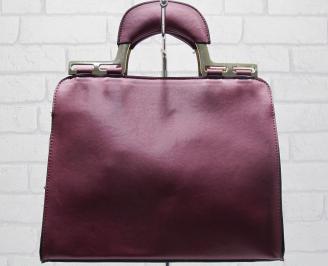 Дамска чанта еко кожа бордо OWYU-23775