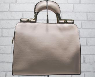 Дамска чанта еко кожа розова KTCS-23778