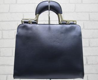 Дамска чанта еко кожа тъмно синя CGHG-23779