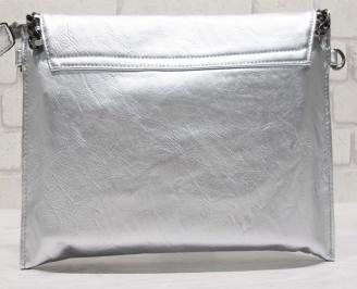Дамска чанта еко кожа сребриста ACXN-23936