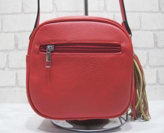 Дамска чанта еко кожа червена ZXUZ-23953