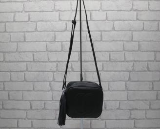 Дамска чанта еко кожа черна NVQI-23954