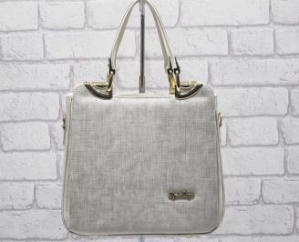 Дамска чанта еко кожа бежова UYFJ-24062