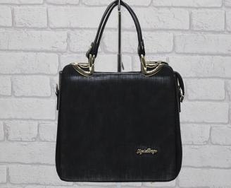 Дамска чанта еко кожа черна DIRL-24063