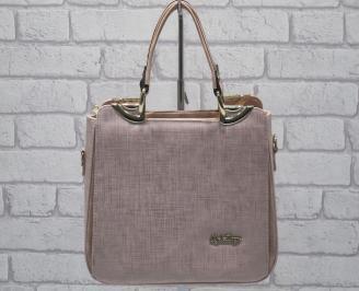 Дамска чанта еко кожа розова UWNW-24064