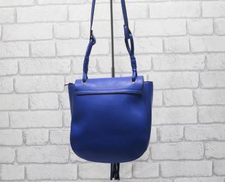 Дамска чанта еко кожа  синя EAOL-24518