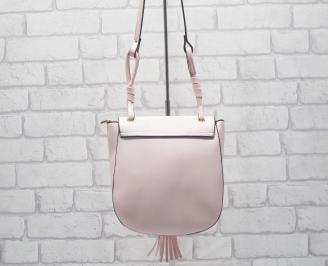 Дамска чанта еко кожа пудра HGHN-24520